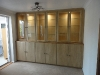Bespoke cabinet, part glazed with recessed top section