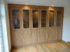 Bespoke cabinet, part glazed with integrated lighting