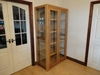 Bespoke oak and glass display cabinet