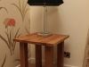 Bespoke oak lamp table