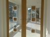 Contemporary oak and glass double doors