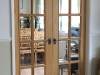 Fully glazed internal double doors