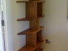Contemporary American white oak bookcase