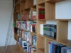 Bespoke home library incorporating sliding ladder